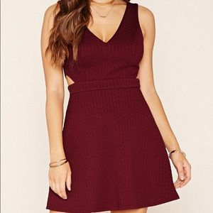 Forever 21 Cutout Fit and Flare Dress